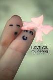 2 本の指が私の最愛の人を愛してる