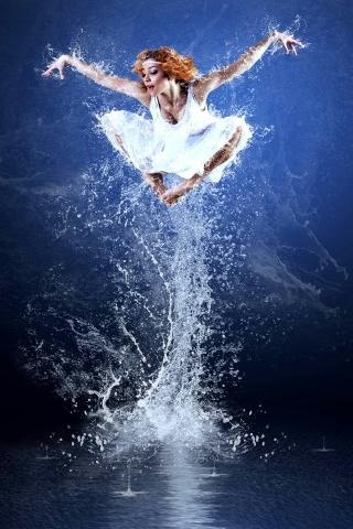 水の女の子 iPhoneの壁紙