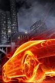 Feuer-Auto