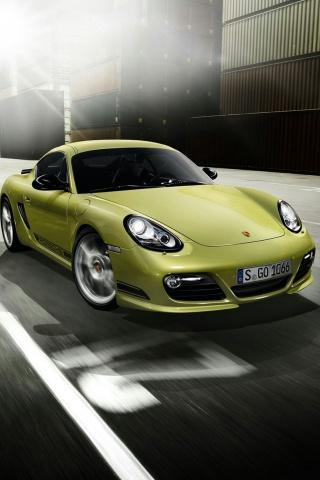 Grüne Porsche iPhone Wallpaper