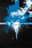 Design blau und schwarz