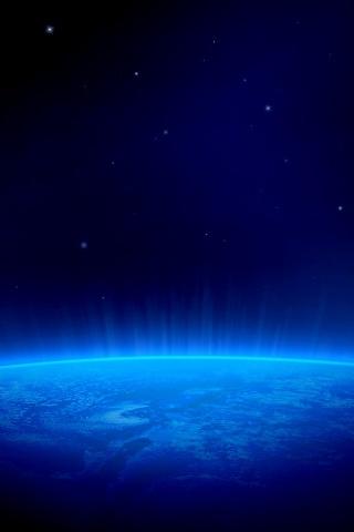 青い惑星 iPhoneの壁紙
