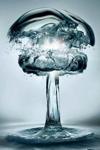 水の爆発 iPhoneの壁紙