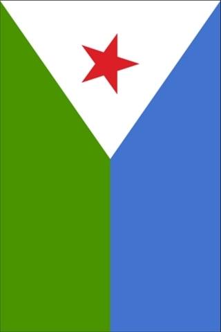ジブチの旗 iPhoneの壁紙