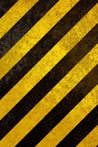 警告ストライプ iPhoneの壁紙