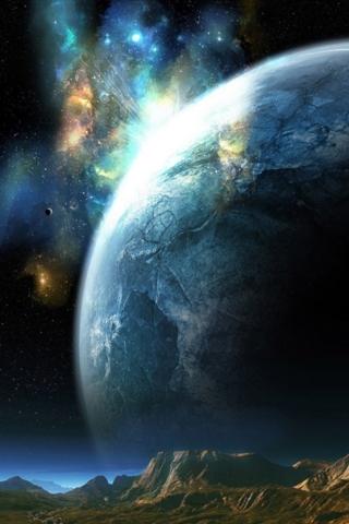 惑星のクローズ アップ iPhoneの壁紙