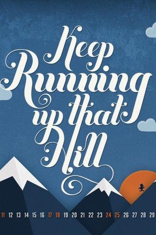 Keep running iPhone Wallpaper