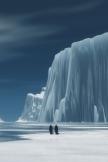 氷山のペンギン