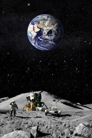 Moon Landing iPhone Wallpaper