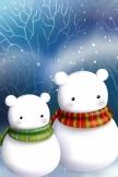 Niedliche Snow Bear In Schal