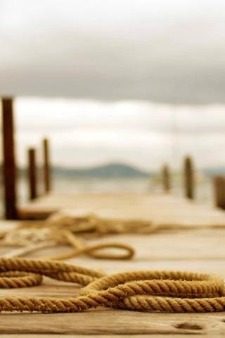 ロープのクローズ アップ iPhoneの壁紙