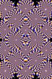 目の錯覚円
