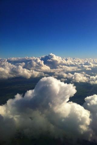 抽象的な雲 iPhoneの壁紙