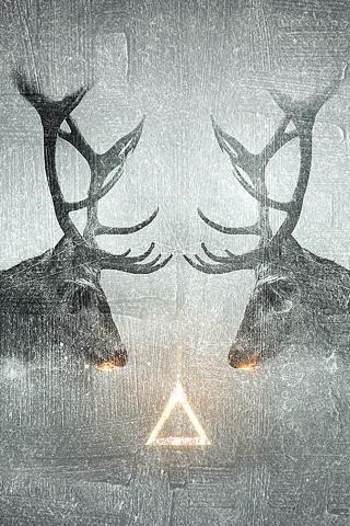 Fantasie Elk CP Tier Schatten iPhone Wallpaper