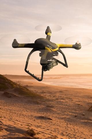 Drone in Desert iPhone Wallpaper