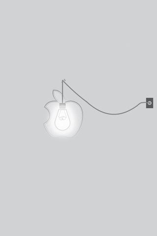Apple Lightbulb iPhone Wallpaper