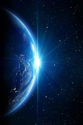 licht auf dem planeten iPhone Wallpaper