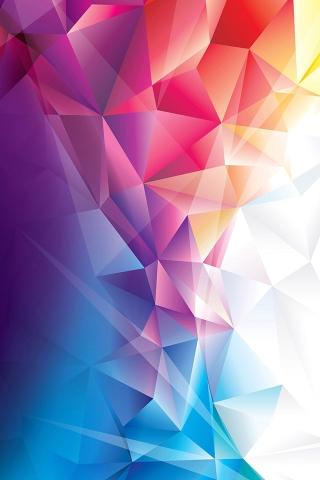 カラフルな多角形 iPhoneの壁紙