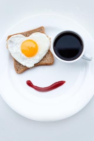 Frühstück-Lächeln iPhone Wallpaper