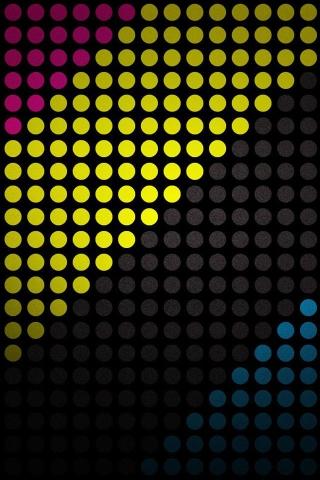 円形ドット iPhoneの壁紙