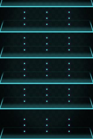 Neon Shelf iPhone Wallpaper