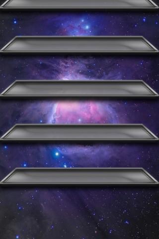 銀河系の棚 iPhoneの壁紙