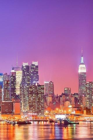 ニューヨークのスカイライン iPhoneの壁紙