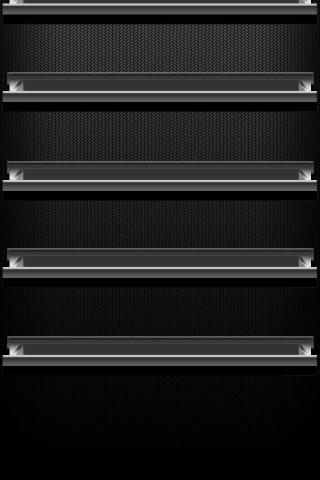 Schwarzes Regal iPhone Wallpaper