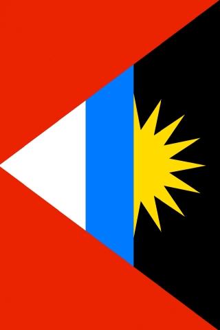 アンティグア ・ バーブーダの国旗 iPhoneの壁紙