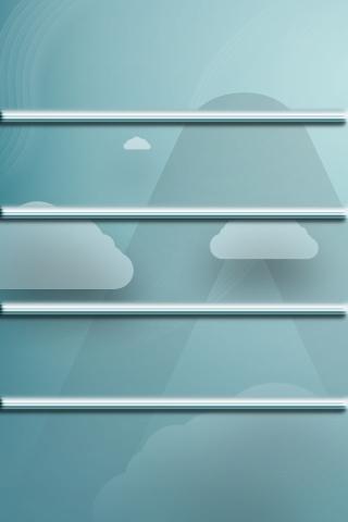 雲の棚 iPhoneの壁紙